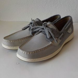 Sperry Boat Shoes Women 12M Gray Laces
